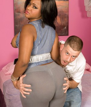 A tight black ass gets toyed and pounded 1